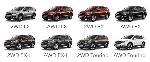 Cr V Trim Levels >> Available Trim Levels for the 2015 Honda CR-V - Hendrick Honda Bradenton