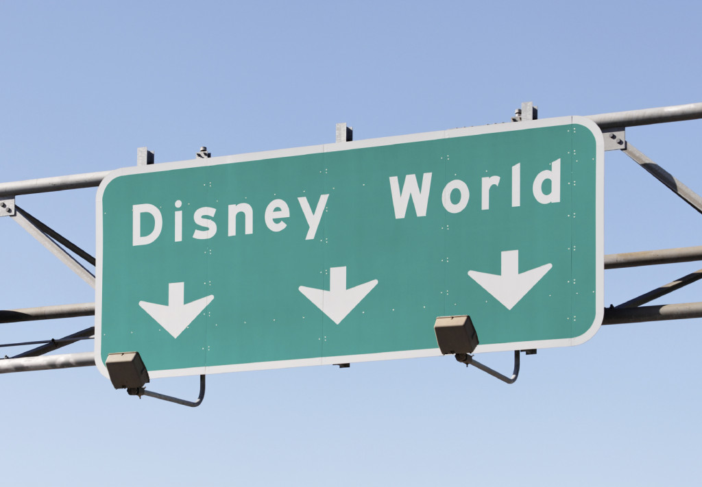 disney world road sign