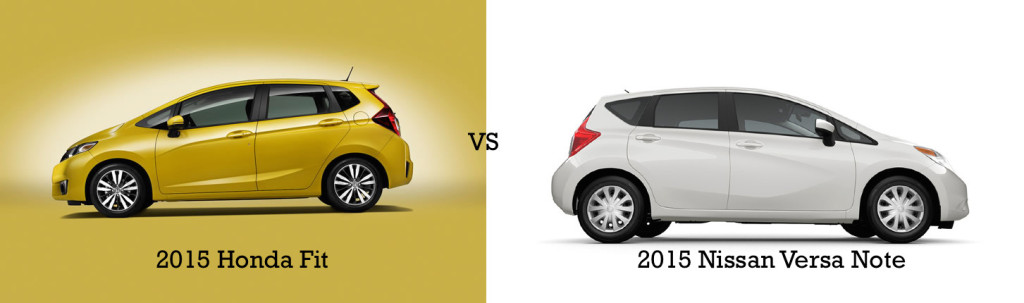 2015 Honda Fit vs. 2015 Nissan Versa Note