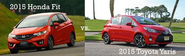 2015 Honda Fit vs. 2015 Toyota Yaris
