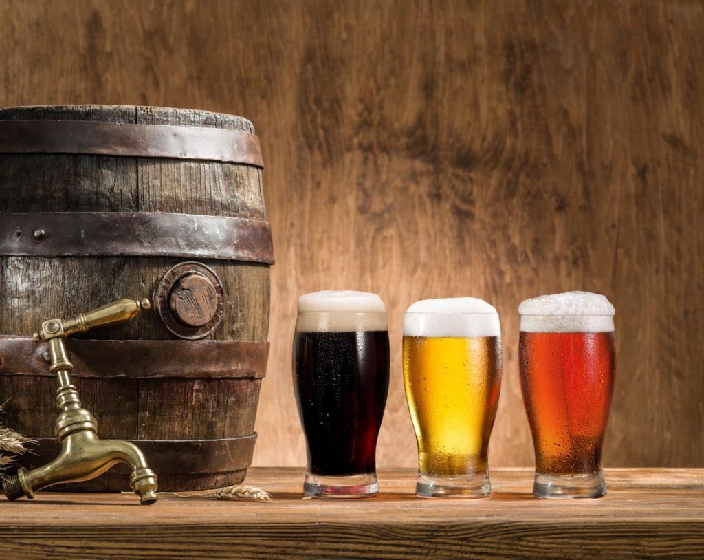 Glasses of beer at Bradenton bars