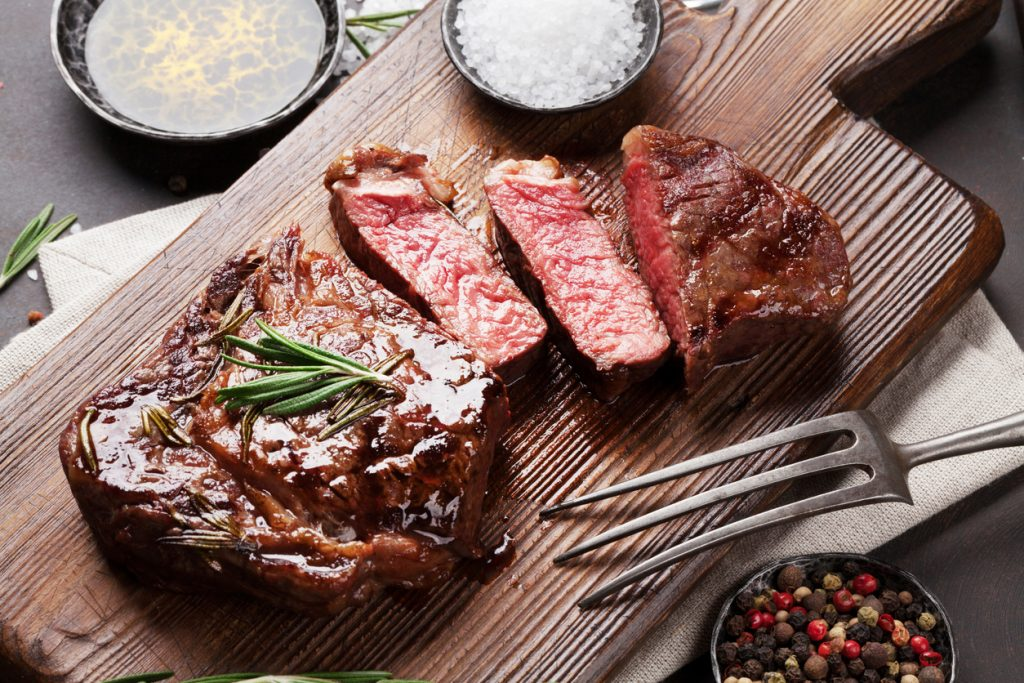 Grilled ribeye beef steak for Memorial Day