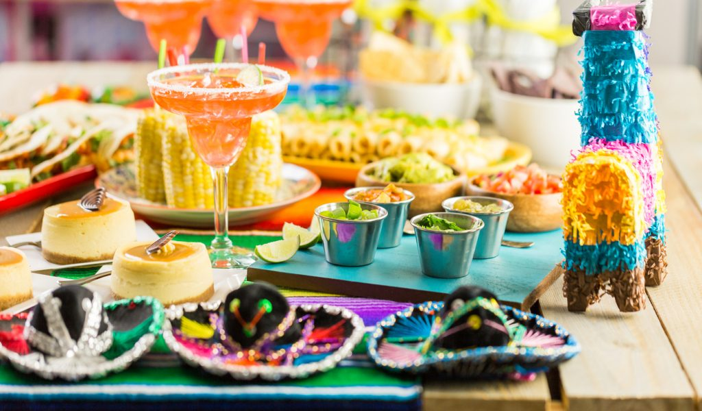 Fiesta party buffet for Cinco de Mayo