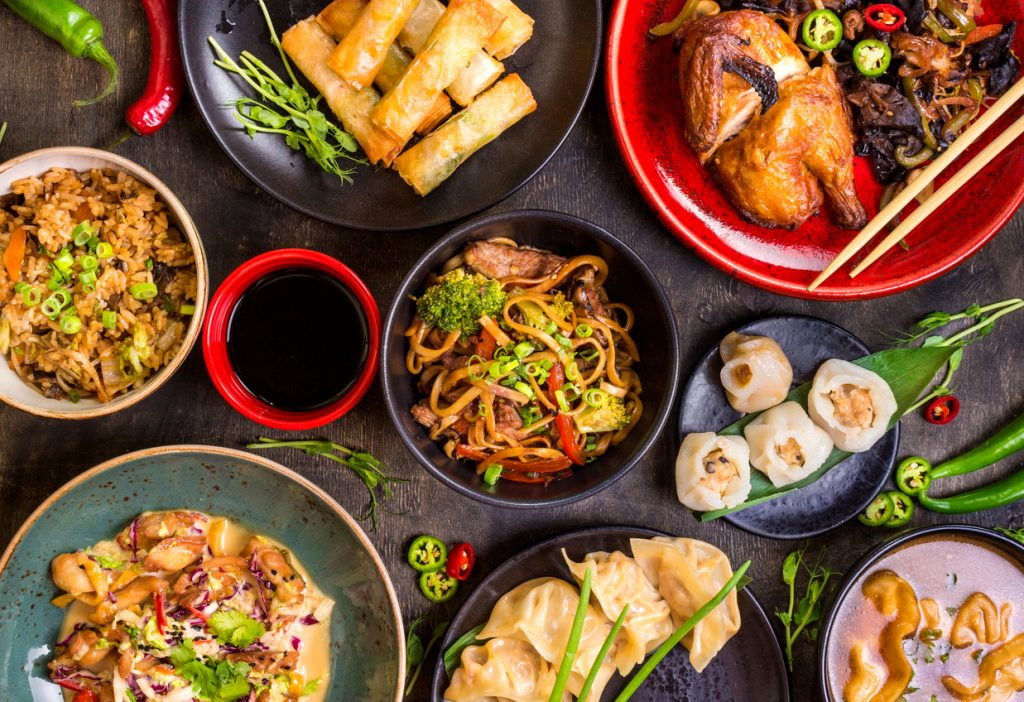 Chinese food at restaurants